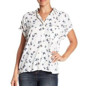 Rails Womens Short Sleeve Button Front Chase